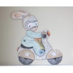 Silueta conejo lazo pequeña
