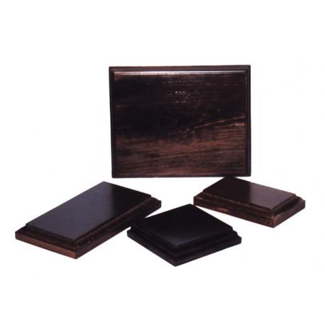 Peana rectangular barniz nogal 10*17 cm