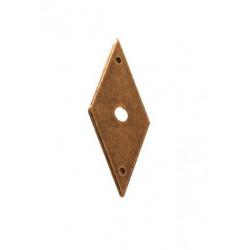 Escudo rombo mediano latón viejo
