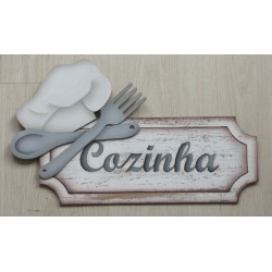 Letrero cocina (en castellano)