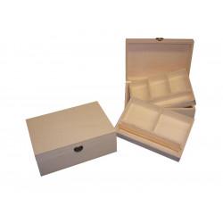 Caja joyero pequeña divisiones b/ anillos