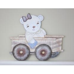 Silueta oso carro pequeño