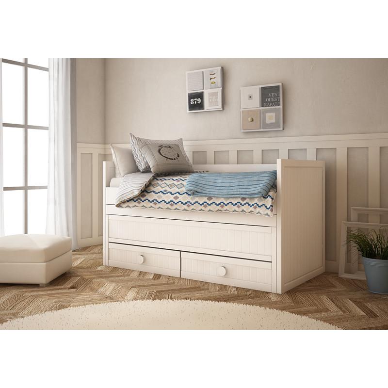 Cama camas cama crudo camas crudo cama infantil camas for Cama compacta oferta