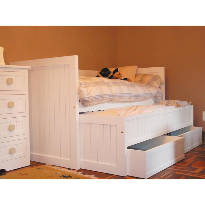 Cama camas cama crudo camas crudo cama infantil camas infantil - Camas nido de 105 cm ...