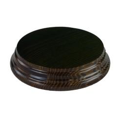 Peana redonda barniz nogal 10,5 cm