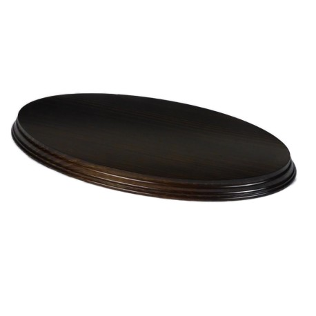 Peana Ovalada barnizada 40*24 cms.