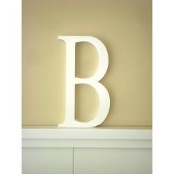 """Silueta letra grande """"B"""" color blanco"""