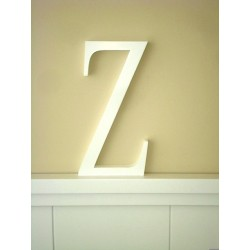 """Silueta letra grande """"Z"""" lacada color blanco"""