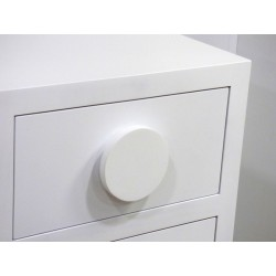 Pomo Circulo Diametro 12 cm. Lacado en color blanco.