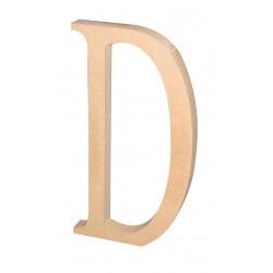 """Silueta letra grande """"D""""."""