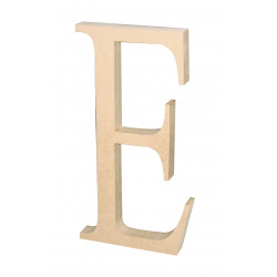 """Silueta letra grande """"E""""."""