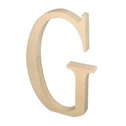 """Silueta letra grande """"G""""."""