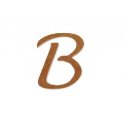 """Silueta letra mayúscula """"B""""."""