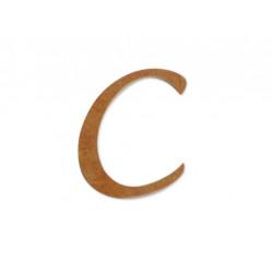 """Silueta letra mayúscula """"C""""."""