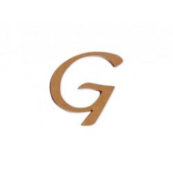 """Silueta letra mayúscula """"G""""."""