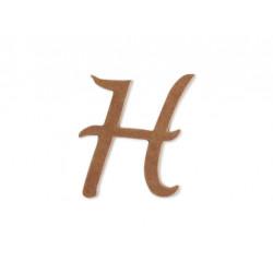"""Silueta letra mayúscula """"H""""."""
