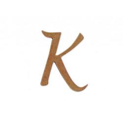 """Silueta letra mayúscula """"K""""."""