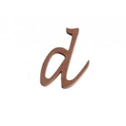 """Silueta letra minúscula """"d"""""""
