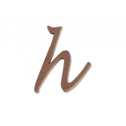 "Silueta letra minúscula ""h""."
