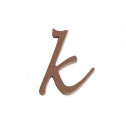 "Silueta letra minúscula ""k""."
